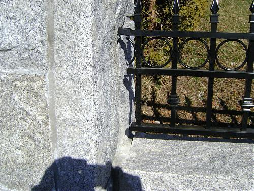Railings to match the passage gate or the driveway gate, are installed in the ma